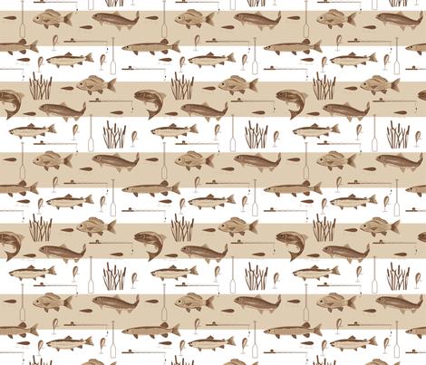 Fishermans Bounty Brown fabric by phyllisdobbs on Spoonflower - custom fabric