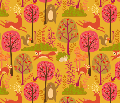 Fall Frolicking!  fabric by vo_aka_virginiao on Spoonflower - custom fabric