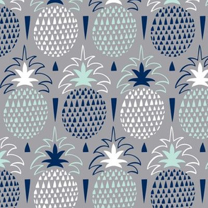 Fresh Picked - Summer Pineapple Geometric Grey