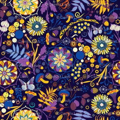 Ripe autumn – purple and yellow