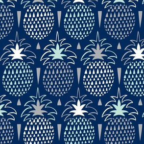 Fresh Picked - Summer Pineapple Geometric Navy