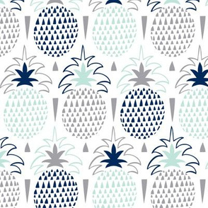 Fresh Picked - Summer Pineapple Geometric White