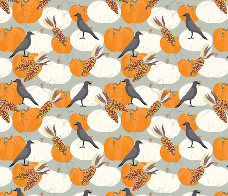 Pumpkin Love fabric by cathleenbronsky on Spoonflower - custom fabric