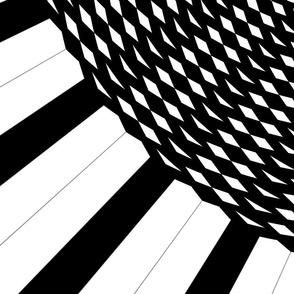 Blackand white shape circledesign