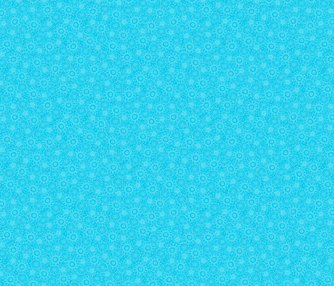Turquoise Blue Flowers Tonal fabric by phyllisdobbs on Spoonflower - custom fabric