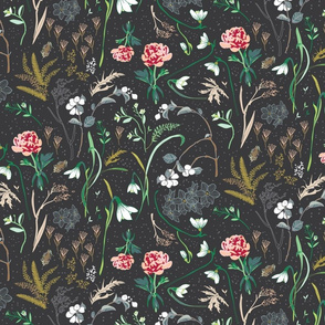 Enchanted Floral LARGE (charcoal)