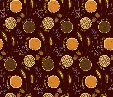 fall baking fabric by groundfeather_studio on Spoonflower - custom fabric