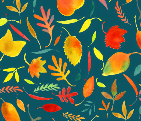Autumn Rainbows - © Lucinda Wei fabric by lucindawei on Spoonflower - custom fabric