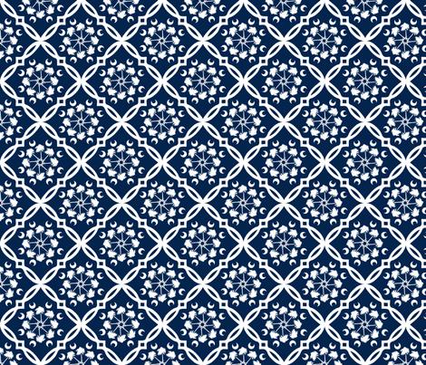 Navy and White South Carolina Palmetto Tree Medallion fabric by rick_rack_scissors_studio on Spoonflower - custom fabric