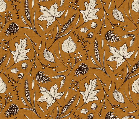 Rustic Fall-Mustard fabric by brittany_vogt on Spoonflower - custom fabric