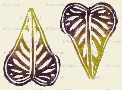 small potato vine leaves - natural