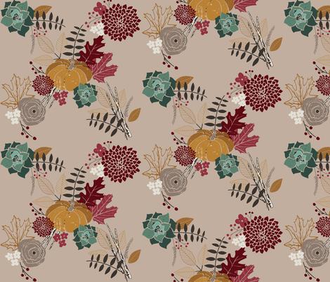rustic blooms fabric by jackiejean on Spoonflower - custom fabric