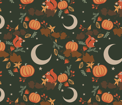 Crisp Autumn Evening fabric by byre_wilde on Spoonflower - custom fabric