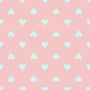 Valentine Heart // Blush and Light Blue