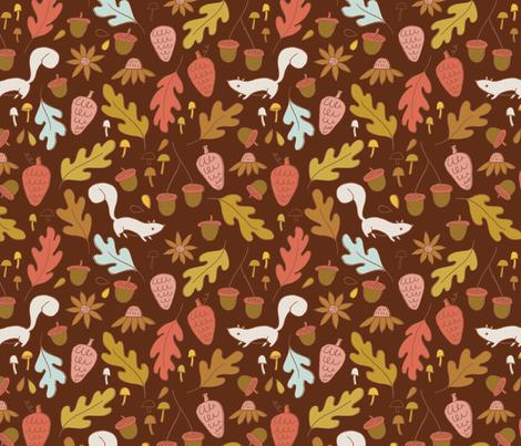 Little Acorns fabric by niseemade on Spoonflower - custom fabric