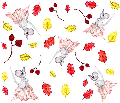 Autumn Mouse fabric by scoutmom131 on Spoonflower - custom fabric