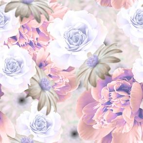 graphic pastel floral