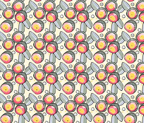 Gumnuts Australian flowers // flora floral eucalyptus waratah aussie pretty natural pattern texture fabric by mountvicandme on Spoonflower - custom fabric