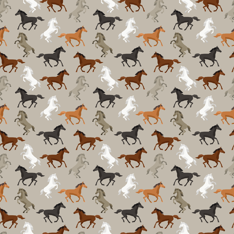 Running Wild (small scale) fabric by floramoon on Spoonflower - custom fabric