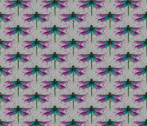 Paper Dragonflies fabric by floramoon on Spoonflower - custom fabric