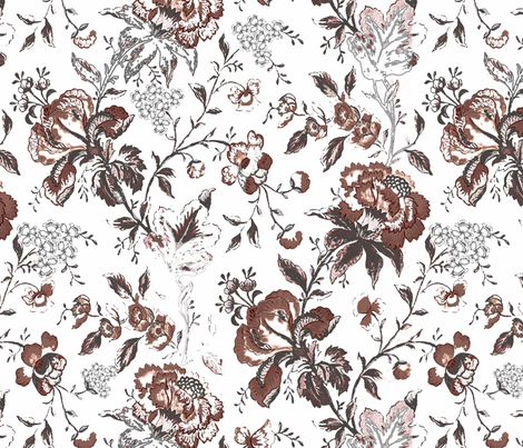 Rustic floral pattern for fall fabric by kkamini on Spoonflower - custom fabric