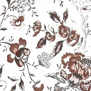 Rustic floral pattern for fall