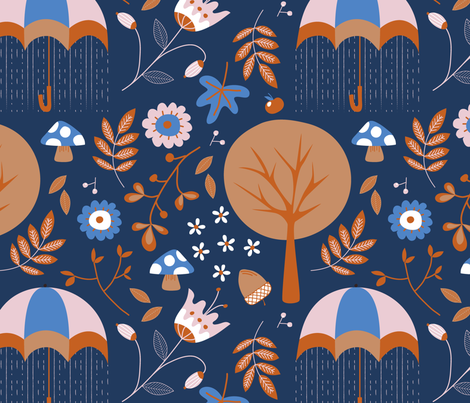 l'automne fabric by nanamira on Spoonflower - custom fabric