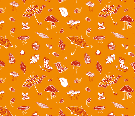 A walk in the forest fabric by revista on Spoonflower - custom fabric