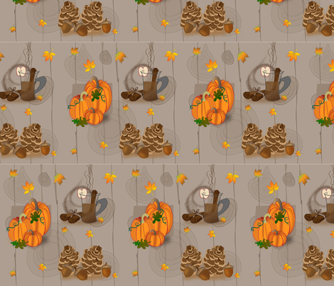 Rustic-Fall fabric by ghazel on Spoonflower - custom fabric