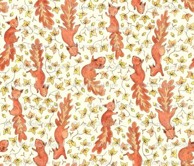 Rustic Acorn Squirrels