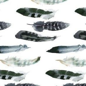 Boho Navy Feathers