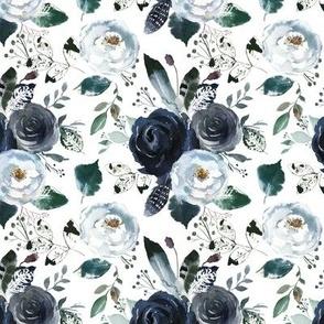 Boho Navy Peony Florals