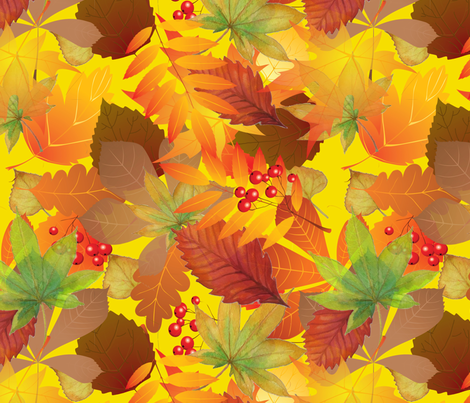 AutumnLeaves fabric by belana on Spoonflower - custom fabric