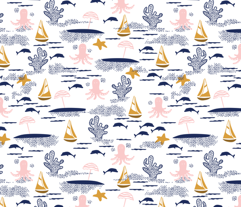 Sandy Beaches fabric by lburleighdesigns on Spoonflower - custom fabric