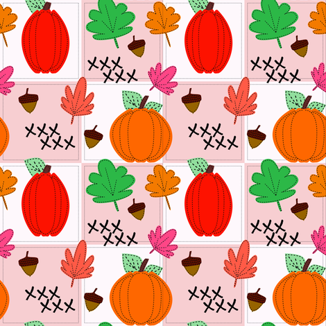 Autumn Stitches fabric by katiecraftymom on Spoonflower - custom fabric