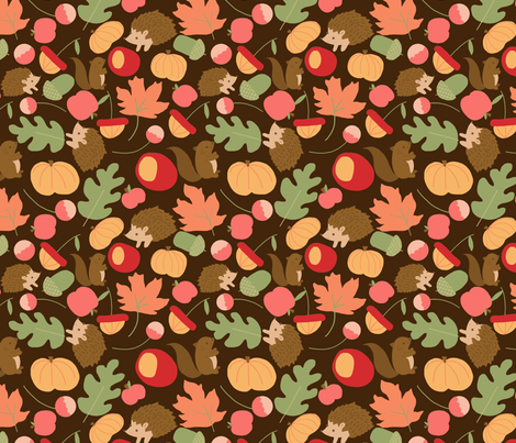 fall_ fabric by amelia_kate_studio on Spoonflower - custom fabric