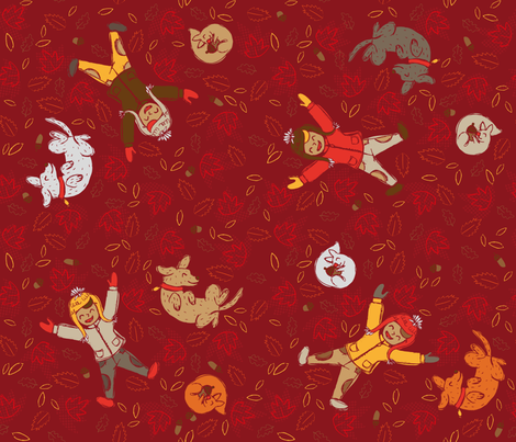 Rustic Autumn Fun fabric by pinky_wittingslow on Spoonflower - custom fabric