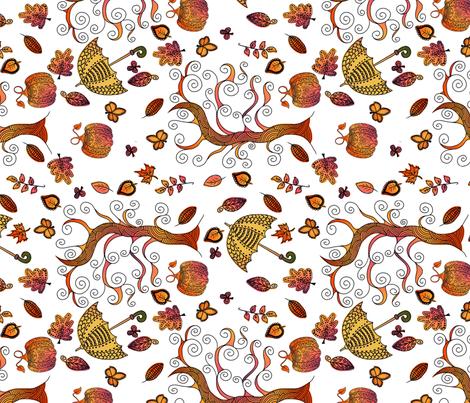 Autumn Scene fabric by thepeachtree on Spoonflower - custom fabric