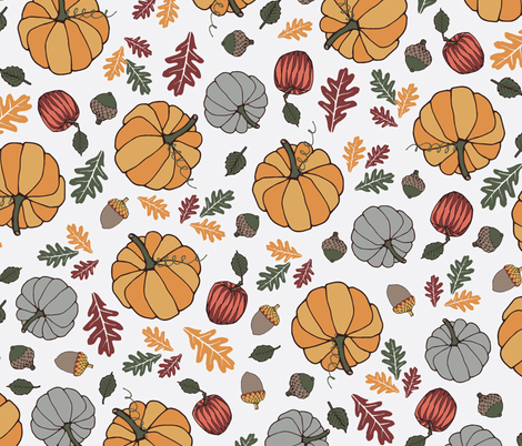 Fall_Gourds fabric by gritgirl on Spoonflower - custom fabric