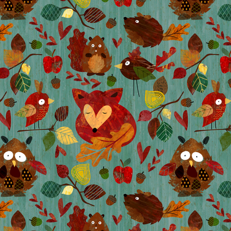Autumn Leaves fabric by sarah_treu on Spoonflower - custom fabric