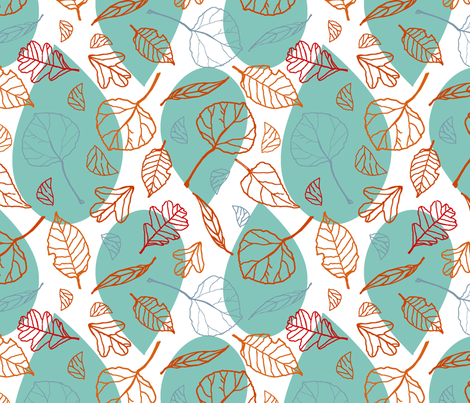 Rainy Autumn  fabric by ellie_b_funk on Spoonflower - custom fabric