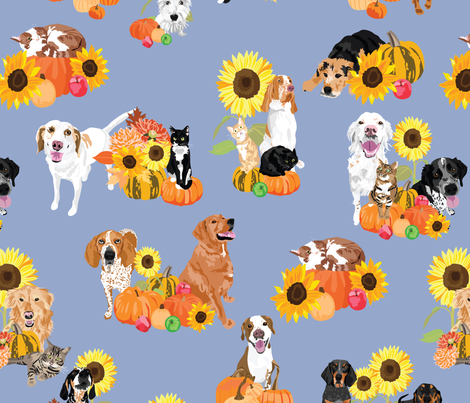 Autumn Animals fabric by vieiragirl on Spoonflower - custom fabric