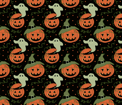 jackolantern_patch__6x6 fabric by leroyj on Spoonflower - custom fabric