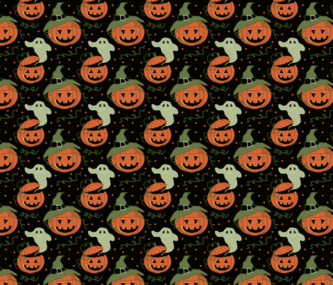 jackolantern_patch__4x4 fabric by leroyj on Spoonflower - custom fabric