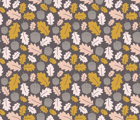 Fall Acorns fabric by jeanelizabeth on Spoonflower - custom fabric