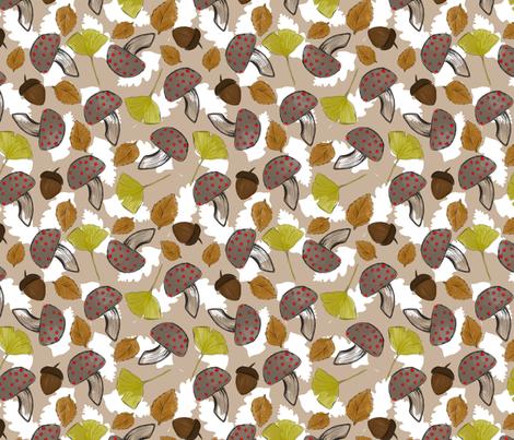AUTUM_BASKET fabric by yasminah_combary on Spoonflower - custom fabric
