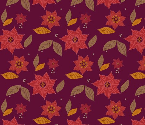 autumn is here fabric by crystalgates on Spoonflower - custom fabric