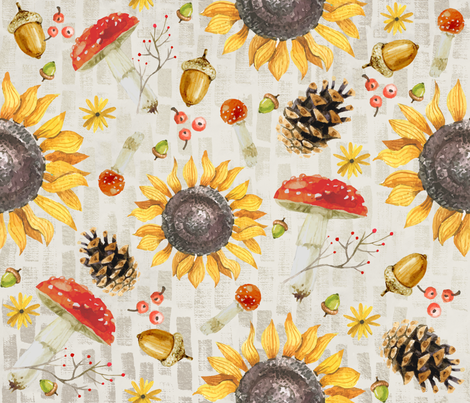 Rustic Autumn Garden fabric by brainsarepretty on Spoonflower - custom fabric