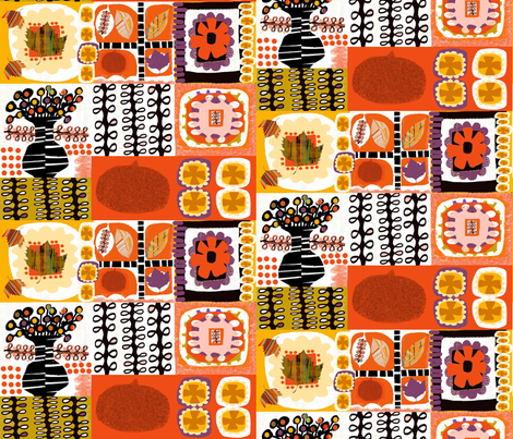Orange thoughts fabric by abstracthands on Spoonflower - custom fabric