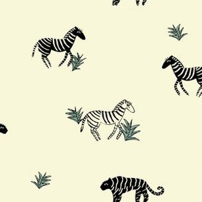 Zebra and Tiger Stripes